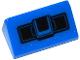 Part No: 85984pb095  Name: Slope 30 1 x 2 x 2/3 with Black Joystick Pattern (Sticker) - Set 75919