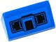 Part No: 85984pb096  Name: Slope 30 1 x 2 x 2/3 with Black Joystick and Rivets Pattern (Sticker) - Set 75916