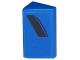 Part No: 85984pb116L  Name: Slope 30 1 x 2 x 2/3 with Curved Black Air Vent Stripe on Blue Background Pattern Model Left Side (Sticker) - Set 75875