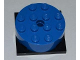 Part No: 87081c01  Name: Turntable 4 x 4 x 1 1/3 Top with Black Square Base, Locking, Complete Assembly (87081 / 61485)
