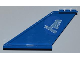 Part No: 87614pb002  Name: Tail 12 x 2 x 5 with Medium Blue Airline Bird Pattern on Both Sides (Stickers) - Set 3181