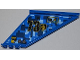 Part No: 87614pb004L  Name: Tail 12 x 2 x 5 with Filler Cap, Black Number 73, and Yellow 'OPEN' and Arrow Pattern Model Left (Sticker) - Set 7067