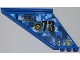 Part No: 87614pb004R  Name: Tail 12 x 2 x 5 with Filler Cap, Black Number 73, and Yellow 'OPEN' and Arrow Pattern Model Right (Sticker) - Set 7067
