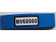 Part No: 93273pb030  Name: Slope, Curved 4 x 1 Double No Studs with 'MV60060' Pattern (Sticker) - Set 60060