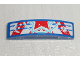 Part No: 93273pb035  Name: Slope, Curved 4 x 1 Double No Studs with Red Star Lower Half Pattern (Sticker) - Set 9094