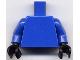 Part No: 973c06  Name: Torso Plain / Blue Arms / Black Hands