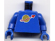 Part No: 973p90c01  Name: Torso Space Classic Moon Pattern / Blue Arms / Blue Hands