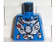 Part No: 973pb0047  Name: Torso Aquazone Hydronaut Silver Diving Pattern 1