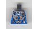 Part No: 973pb0115  Name: Torso Aquazone Hydronaut Silver Diving Pattern 2