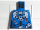 Part No: 973pb0116  Name: Torso Aquazone Hydronaut Silver Diving Pattern 3