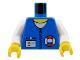 Part No: 973pb0237c01  Name: Torso Rescue Coast Guard Logo, Name Tag, White Collar, Zipper Pattern / White Arms / Yellow Hands