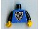 Part No: 973pb0297c01  Name: Torso Castle Black Falcon Pointier Bottom Shield 1st Reissue Pattern / Black Arms / Yellow Hands
