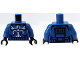 Part No: 973pb0705c01  Name: Torso SW Armor Clone Trooper with White Senate Commando Captain Markings Pattern / Blue Arms / Black Hands
