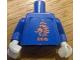 Part No: 973pb0771c01  Name: Torso Soccer Dutch Goalie, KNVB Logo Sticker Front, White Number Sticker Back (specify number in listing) / Blue Arms / White Hands