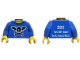 Part No: 973pb0855c01  Name: Torso Bat Wings and Crossbones Front, 2011 The LEGO Store South Coast Plaza Back Pattern  / Black Arms / Yellow Hands