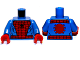 Part No: 973pb1228c01  Name: Torso Spider-Man Costume 4 Pattern / Blue Arms / Red Hands