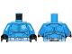 Part No: 973pb1523c01  Name: Torso SW Armor Special Forces Clone Trooper Pattern / Blue Arms / Black Hands