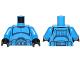 Part No: 973pb1845c01  Name: Torso SW Armor Clone Trooper with Belt with Pockets Pattern (Senate Commando) / Blue Arms / Black Hands