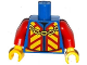 Part No: 973pb1876c01  Name: Torso Castle King Jacket with Red and Yellow Chevrons and Gold Chain Pattern / Red Arms / Yellow Hands