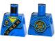 Part No: 973pb1907  Name: Torso Ninjago Robe with Gold Asian Characters on Black Sash and Jay Power Emblem Pattern