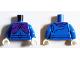 Part No: 973pb2055c01  Name: Torso Shirt with Belt and Dark Purple Cape Clasp Pattern (Headless Horseman) / Blue Arms / White Hands