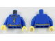 Part No: 973pb2905c01  Name: Torso Robe with Gold USB Flash Drive on Necklace with 'M' and Dark Tan Rope Belt Pattern / Blue Arms / Yellow Hands