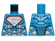 Part No: 973pb3312  Name: Torso Armor with Silver Superman 'S' Logo with Red Border Pattern