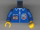 Part No: 973px112c01  Name: Torso Launch Command Logo, Zipper and ID Badge Pattern / Blue Arms / Yellow Hands