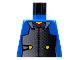 Part No: 973px12  Name: Torso Castle Ninja Armor Plate, Red Collar Pattern (Samurai)