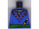 Part No: 973px188  Name: Torso Adventurers Orient Red Diamonds, Sash, Knife, Open Collar Pattern