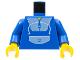Part No: 973px2c01  Name: Torso Blue Jogging Suit Pattern / Blue Arms / Yellow Hands