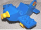 Part No: dplane2  Name: Duplo Airplane Small Wings on Bottom with Yellow Wheels and Yellow Propeller
