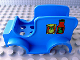 Part No: dupcarbody03  Name: Duplo Car Body Grocery Truck with Dry Goods Pattern (fits over Car Base 2 x 6)