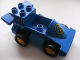 Part No: duploracer02a  Name: Duplo Car Formula One with Blue Bottom and Yellow Number 2 Pattern, 1 Stud in Cab