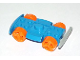 Part No: racerbase  Name: Vehicle, Base 4 x 6 Racer Base with Wheels (Wheel Color Undetermined)