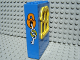 Part No: x637c02pb03  Name: Fabuland Building Wall 2 x 6 x 7 with Squared Yellow Window and Lock and Keys Pattern (Sticker) - Set 3664