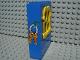 Part No: x637c02pb04  Name: Fabuland Building Wall 2 x 6 x 7 with Squared Yellow Window and Keys Pattern (Sticker) - Set 3669