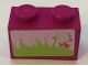 Part No: 3004pb164  Name: Brick 1 x 2 with Grass and Hearts Pattern (Sticker) - Set 7586