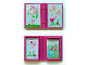 Part No: 33009pb018  Name: Minifigure, Utensil Book 2 x 3 with Fairy and Flowers Story Pattern (Stickers) - Set 7579