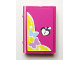Part No: 33009pb040  Name: Minifigure, Utensil Book 2 x 3 with Butterflies and Heart Lock Pattern (Sticker) - Set 3315