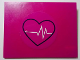 Part No: 4515pb055  Name: Slope 10 6 x 8 with Magenta Circle, Black Heart Outline and White ECG Pattern (Sticker) - Set 41318