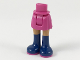 Part No: 92252c00pb024  Name: Mini Doll Friends Hips and Skirt, Medium Dark Flesh Legs and Long Dark Blue Boots with Magenta Soles Pattern