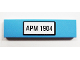 Part No: 2431pb156  Name: Tile 1 x 4 with 'APM 1904' Pattern (Sticker) - Set 10219