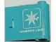 Part No: 3188pb001  Name: Door 1 x 3 x 2 Right with White 'MAERSK LINE' and Maersk Logo Pattern (Sticker) - Set 1552-1