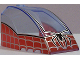 Part No: 42602pb04  Name: Windscreen 8 x 6 x 4 Canopy with Hinge and Spider-Man Pattern