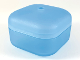 Part No: clikits114c03  Name: Clikits Container Box, Square with 1 Hole - Bottom with Same Color Clikits Container Box, Square with 1 Hole - Lid (clikits114 / clikits115)