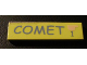 Part No: 2431pb119  Name: Tile 1 x 4 with 'COMET' and '1' Pattern (Sticker) - Set 5941