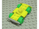 Part No: 30558c03  Name: Vehicle, Base 4 x 6 Racer Base with Bright Green Wheels