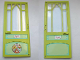 Part No: 6896bpb01  Name: Scala Door Mullioned - Hinged 10 x 1 x 18 2/3 with 'Marie' Pattern both sides (Stickers) - Set 3142
