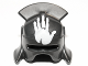 Part No: 10051pb01  Name: Minifigure, Headgear Helmet Castle with Lateral Comb and Handprint Pattern